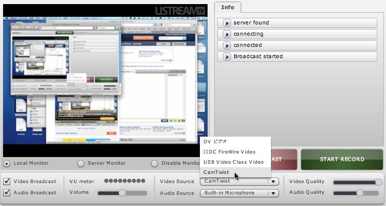 CamTwistを使ってUstreamにデスクトップの画像を配信 | kazumich log