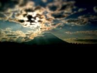 朝少し見えた富士山